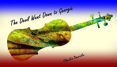 Devil Went Down To Georgia Daniels Fiddle  Art Print