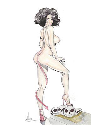 Devilgirl Art Print