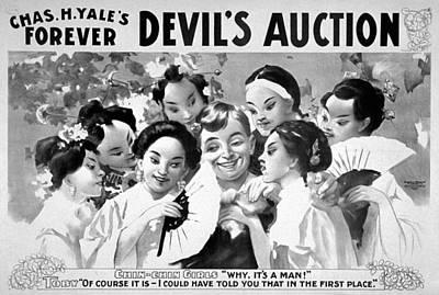 Devil's Auction, C1899 Art Print