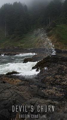 Photograph - Devil's Churn - Oregon Coast by Michael Davis