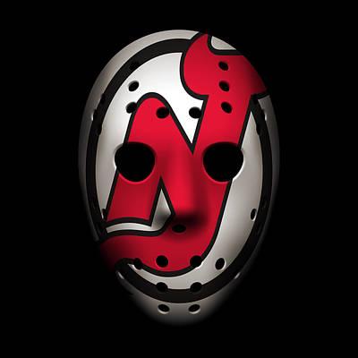 Jersey Devil Photograph - Devils Goalie Mask by Joe Hamilton