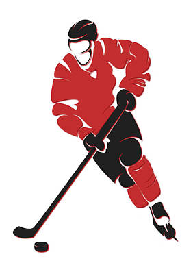 New Jersey Devils Wall Art - Photograph - Devils Shadow Player by Joe Hamilton