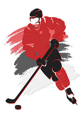 New Jersey Devils Wall Art - Photograph - Devils Shadow Player2 by Joe Hamilton