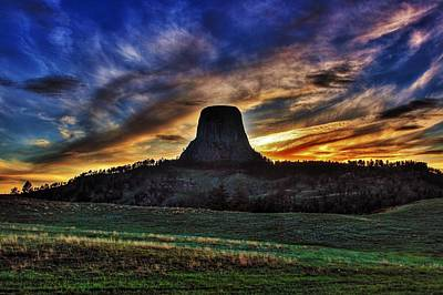 Photograph - Devils Tower by Benjamin Yeager