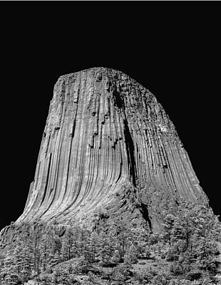 Photograph - 109851-bw-devil's Tower 2  by Ed  Cooper Photography