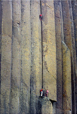 Photograph - Devil's Tower Climbers by Ed  Cooper Photography