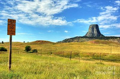 Photograph - Devils Tower Encounter 1 by Mel Steinhauer
