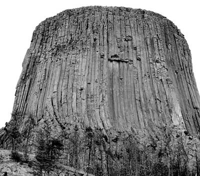 3rd Base Photograph - Devils Tower National Monument 3 Bw by Elizabeth Sullivan
