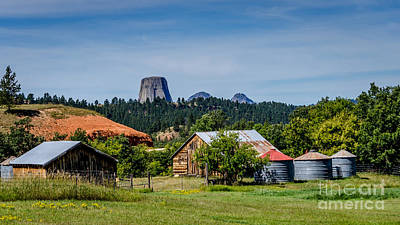 Photograph - Devils Tower - Scenic Back Roads by Debra Martz