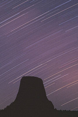 Devils Tower Star Trails Art Print