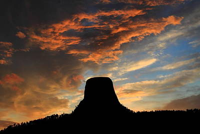 Devil's Tower Sunset Art Print