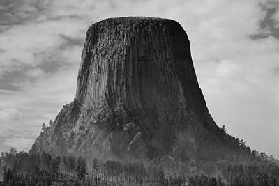 Photograph - Devil's Tower - The Smoke Rises by Nadalyn Larsen