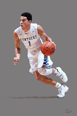 Devin Booker Art Print by Charley Pallos