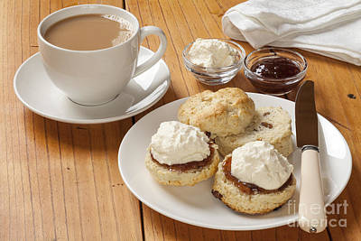 Cup Of Tea Photograph - Devon Cream Tea by Colin and Linda McKie