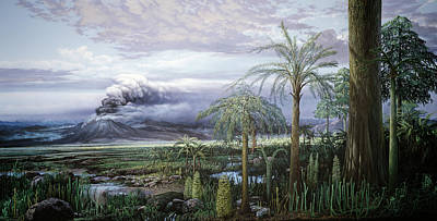 Painting - Devonian Landscape by Chase Studio