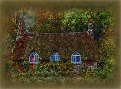 Digital Art - Devonshire Cottage by Hanny Heim