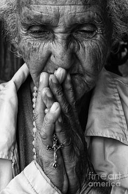 Old Lady Photograph - Devoted by Bob Christopher