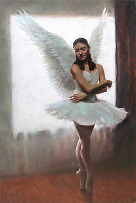 Angel Painting - Devotion by Anna Rose Bain