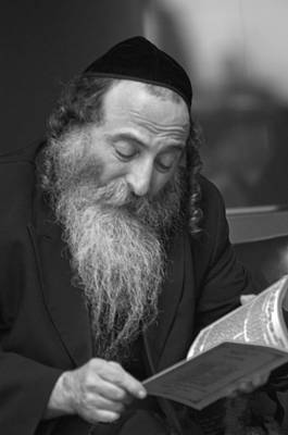 Photograph - Devout Jew At Prayer by Don Wolf