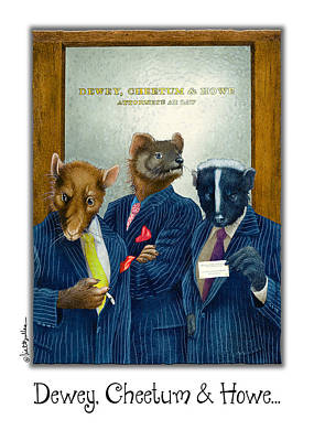 Weasel Painting - Dewey Cheetum And Howe... by Will Bullas