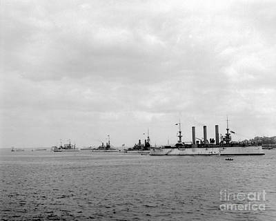 Photograph - Dewey Fleet At Anchor by William Haggart
