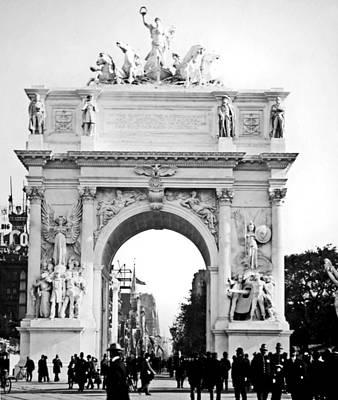 Dewey's Arch New York 1900 Vintage Photograph Art Print