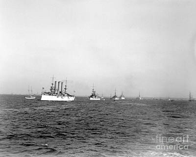 Photograph - Deweys Triumphant Fleet by William Haggart