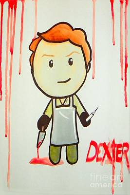 Art Print featuring the painting Dexter by Marisela Mungia