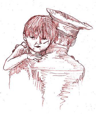 Dexter Drawing - Dexter Morgan  by Ehud Shomron