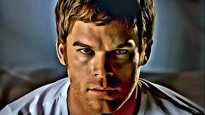 Dexter Portrait Art Print by Florian Rodarte