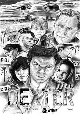 Dexter Drawing - Dexter Season One by David Horton