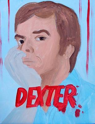 Painting - Dexter With Hand by Marisela Mungia