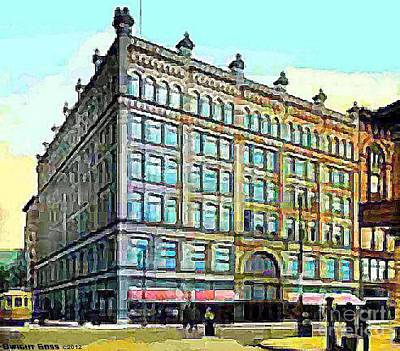 Painting - Dey Bros. Department Store In Syracuse N Y 1910 by Dwight Goss