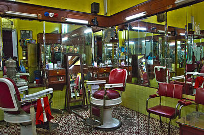 Barberchair Photograph - Df Barbershop by John  Bartosik