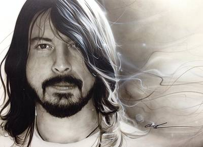 Dave Grohl Painting - David Grohl - ' D. G. ' by Christian Chapman Art