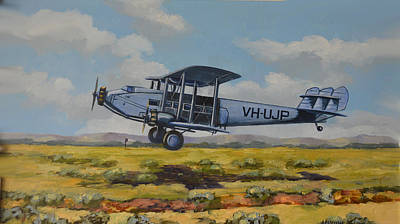 Print featuring the painting Dh Hercules 1929 by Murray McLeod