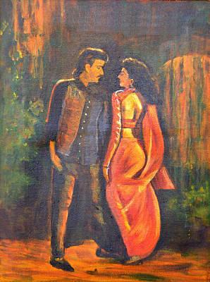 Dhak Dhak Art Print by Usha Shantharam