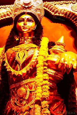 Dhanalakshmi-the Hindu Goddess Of Wealth Art Print
