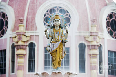 Worship God Photograph - Dhanvantari Fountain Statue Puttaparthi India by Tim Gainey