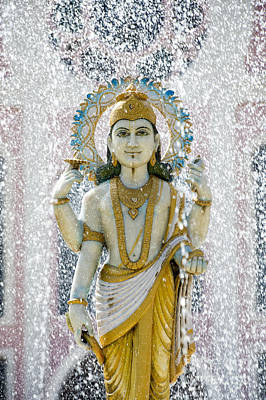 Worship God Photograph - Dhanvantari Fountain Statue Puttaparthi by Tim Gainey