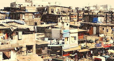 Photograph - Dharavi 2 by    Michaelalonzo   Kominsky