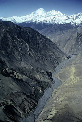 Dhaulagiri Himal Situated In The Kali Art Print