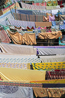 Clotheslines Photograph - Dhobi Ghat, The World's Largest Outdoor by Keren Su