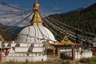 Dhodina Chorten Is Modeled On The Stupa Print by Howie Garber
