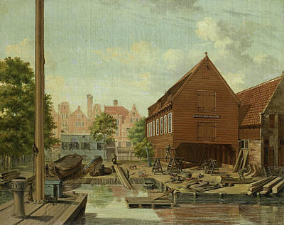 Dhollandsche Tuin Shipyard On Bickers Island In Amsterdam Art Print by Litz Collection