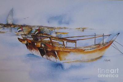 Painting - Dhow And Burg Al Arab by Donna Acheson-Juillet