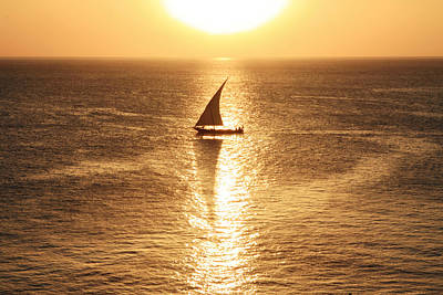 Photograph - African Dhow At Sunset by Aidan Moran