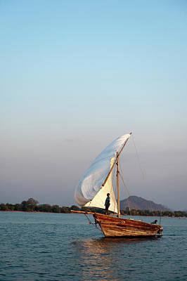 Dhow Photograph - Dhow On Lake Malawi, Cape Maclear by Ariadne Van Zandbergen