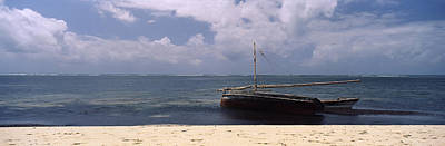 Dhow Photograph - Dhows In The Ocean, Malindi, Coast by Panoramic Images