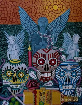 Painting - Dia De Los Muertos by Anthony Morris